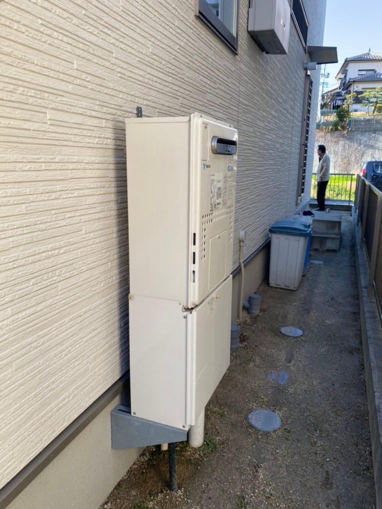 大阪府パナソニックエコキュートHE-JU37JQS施工前の写真