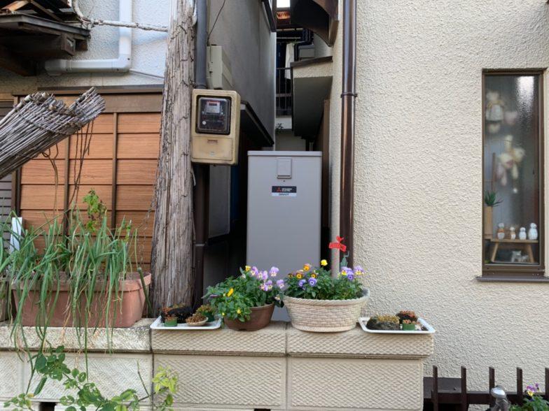 京都府三菱エコキュートSRT-S374UAIHクッキングヒーターG-318M施工後の写真