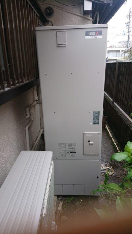三重県三菱エコキュートSRT-S374UA施工後の写真