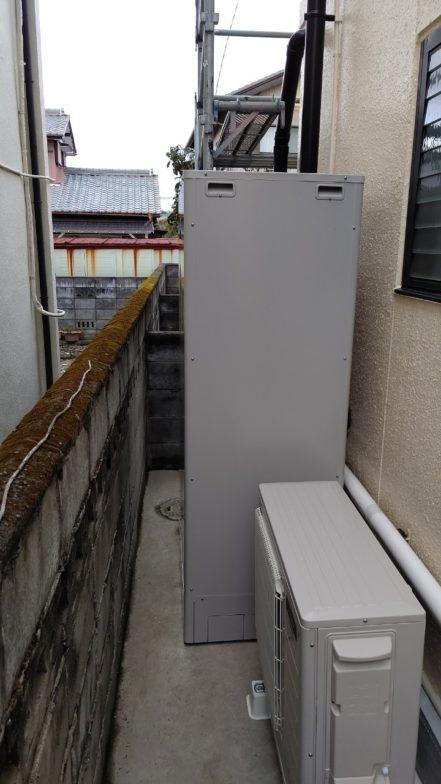 京都府三菱エコキュートSRT-W374施工後の写真