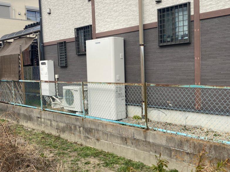 大阪府東芝のエコキュートHWH-B376HW施工後の写真