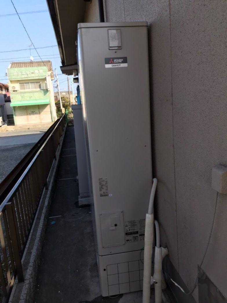 奈良県三菱エコキュートSRT-N374施工後の写真