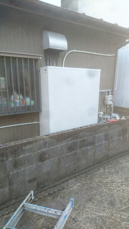 京都府三菱エコキュートSRT-S374UZ施工後の写真