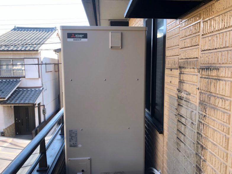 和歌山県三菱エコキュートSRT-S374UA浴室乾燥機V-141BZ施工後の写真