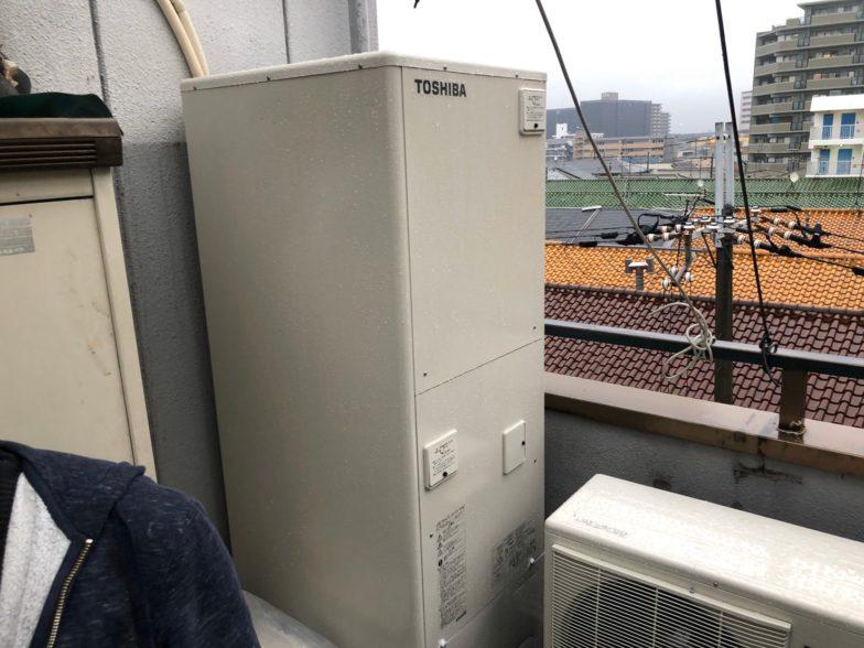 大阪府東芝エコキュートHWH-B376HIHクッキングヒーターG-318M施工後の写真
