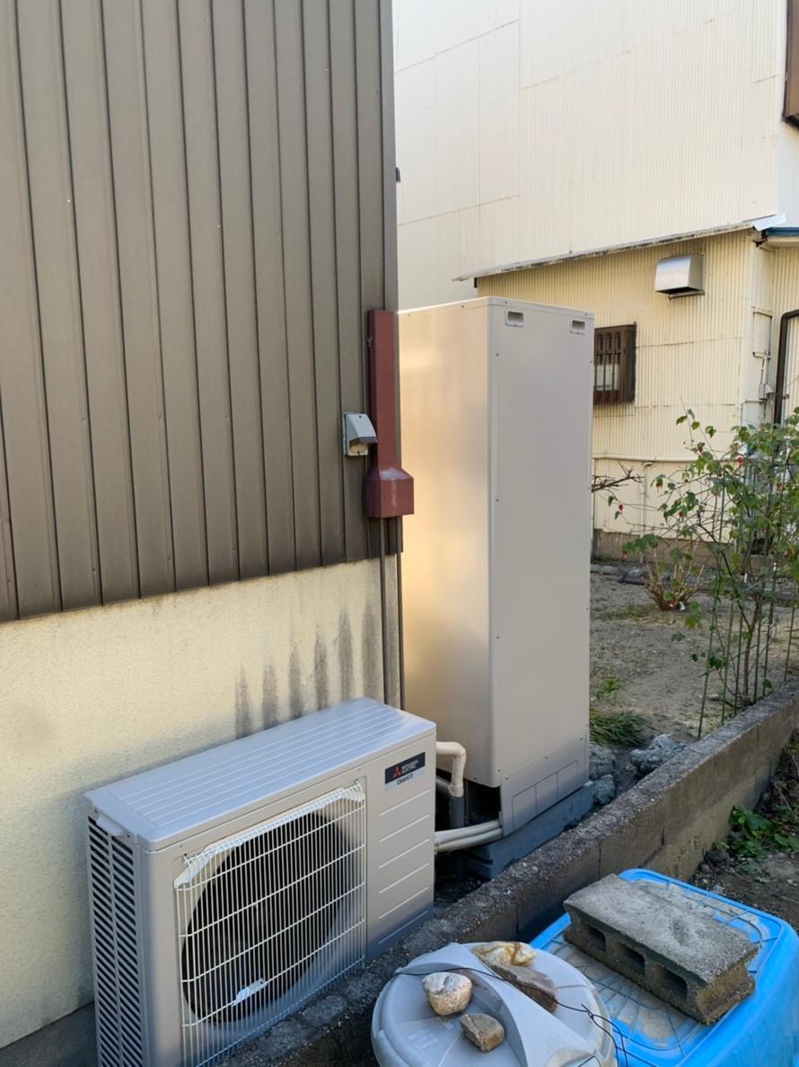 大阪府三菱エコキュートSRT-S464UA施工後の写真