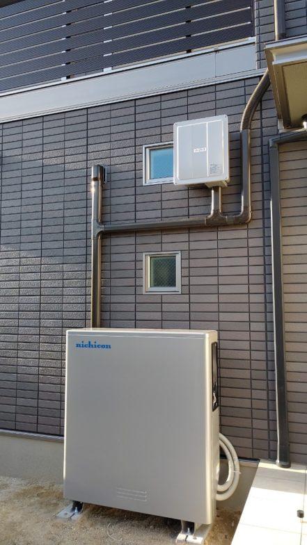 大阪府nichicon蓄電池ESSU2M1施工後の写真
