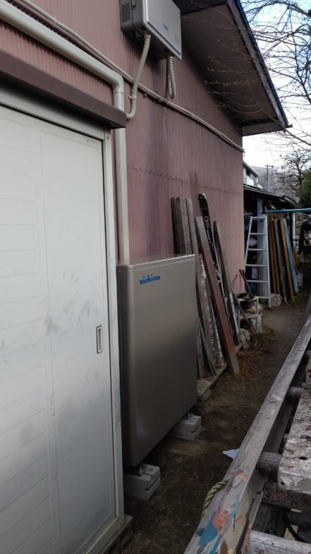 奈良県nichicon蓄電池ESSU2M1施工後の写真