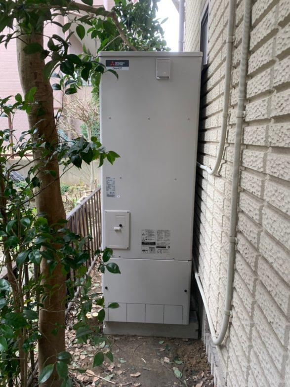 大阪府三菱エコキュートSRT-S464UAIHクッキングヒーターG-318M施工後の写真