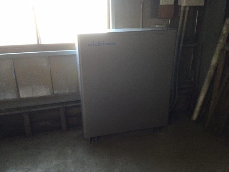 兵庫県ニチコン蓄電池ESS-U2M1施工後の写真