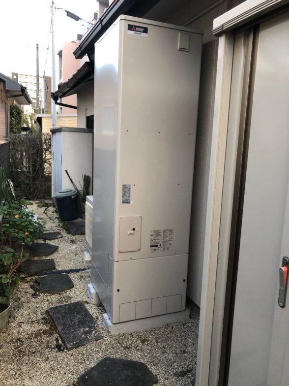 兵庫県三菱のエコキュートSRT-S374UZIHクッキングヒーターCS-PT316HNWS施工後の写真