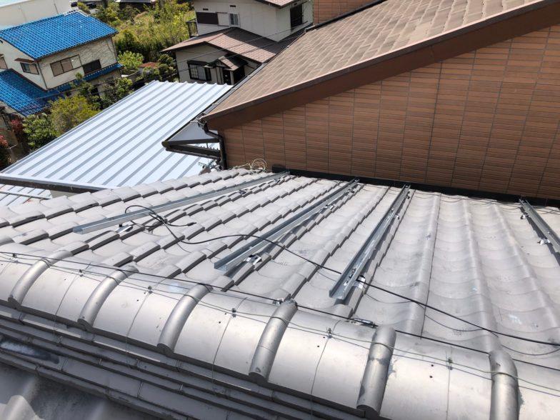 奈良県QcellsQ.PEAK-G310 12枚施工前の写真