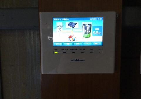 兵庫県ニチコン蓄電池ESS-U2M1施工後その他の写真1