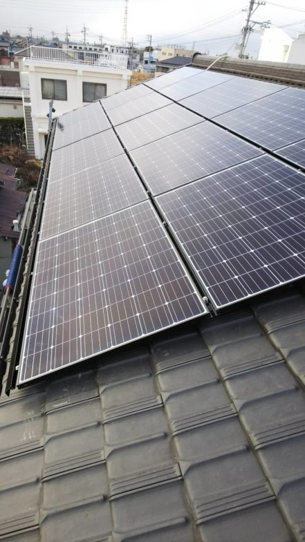 和歌山県長州産業太陽光発電システムCS-284B61施工後の写真