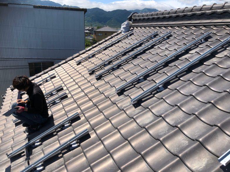 大阪府Qセルズ太陽光発電システムQ PEAK-G5.1 310施工前の写真