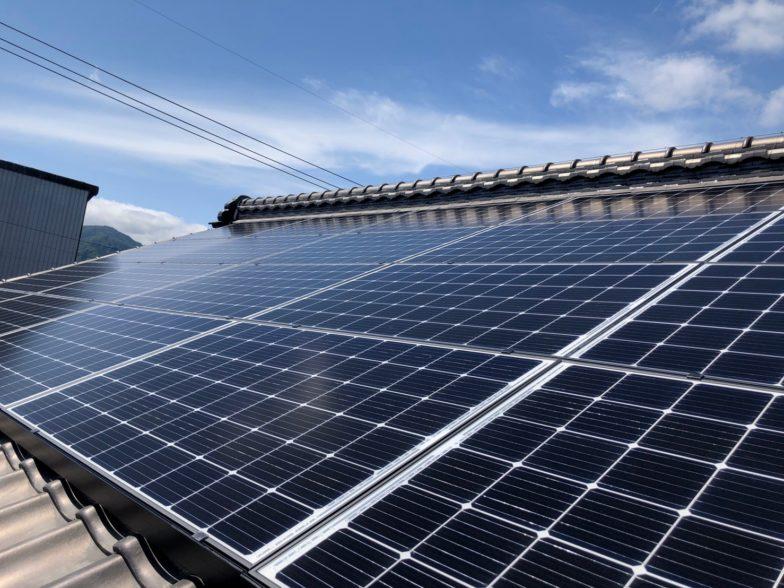 大阪府Qセルズ太陽光発電システムQ PEAK-G5.1 310施工後の写真