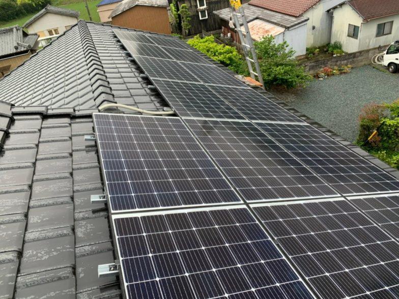 奈良県Qセルズ太陽光発電システムQ PEAK-G5.1 310施工後の写真