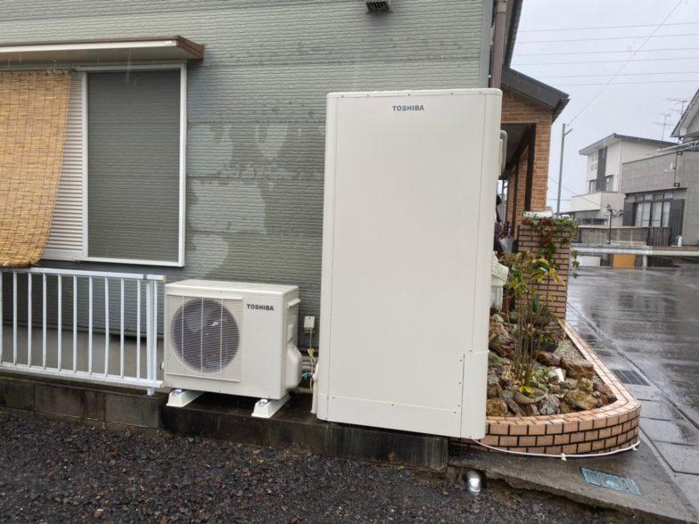 奈良県東芝エコキュートHWH-B376HWA施工後の写真