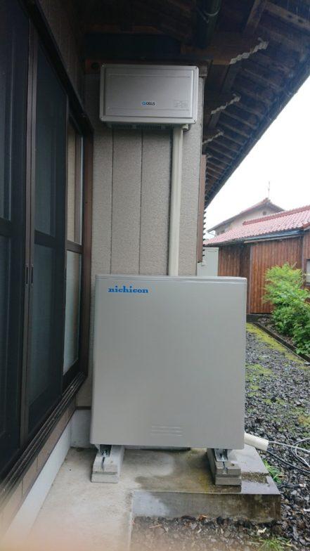 愛知県ニチコン蓄電池ESS-U2M1施工後の写真