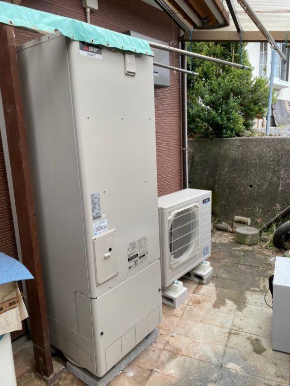 岐阜県三菱エコキュートSRT-S464UA施工後の写真