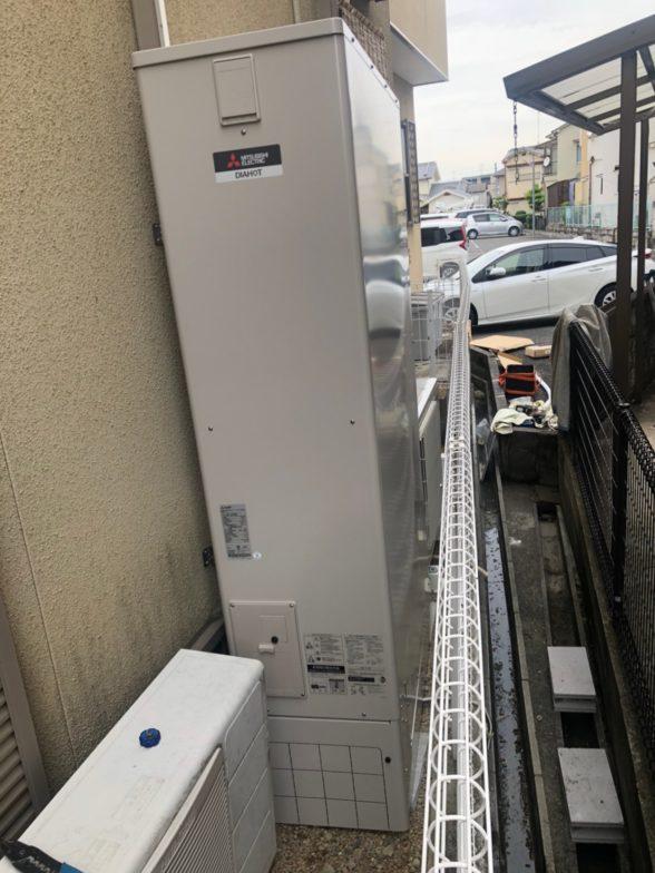 奈良県三菱エコキュートSRT-S374UZ施工後の写真