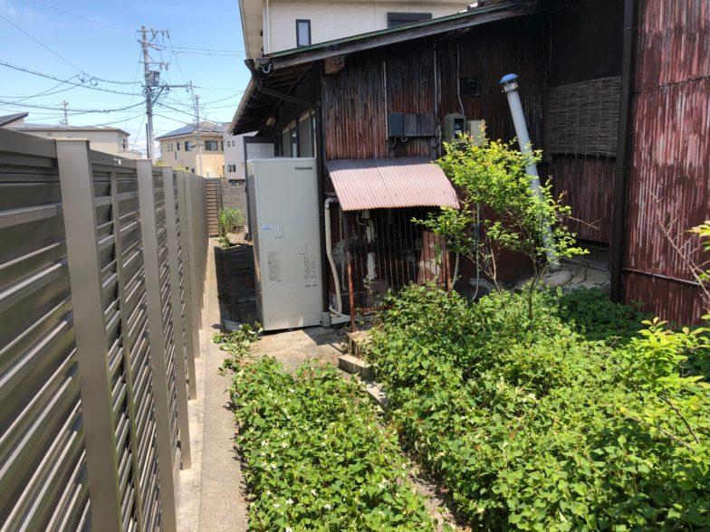 大阪府東芝エコキュートHWH-F376施工後の写真