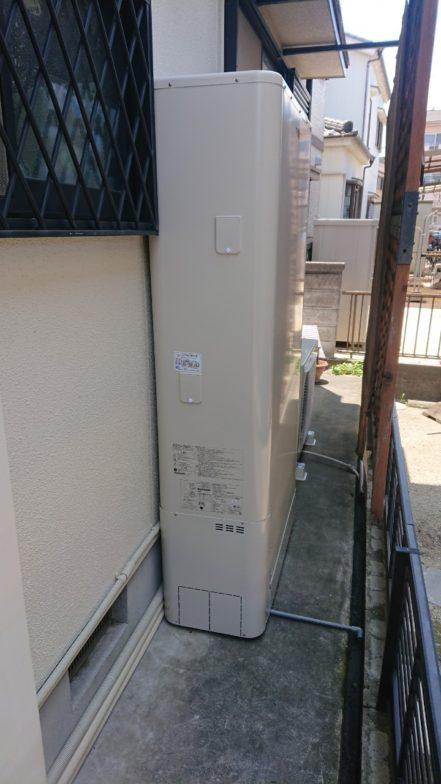 滋賀県東芝エコキュートHWH-B376HWA施工後の写真