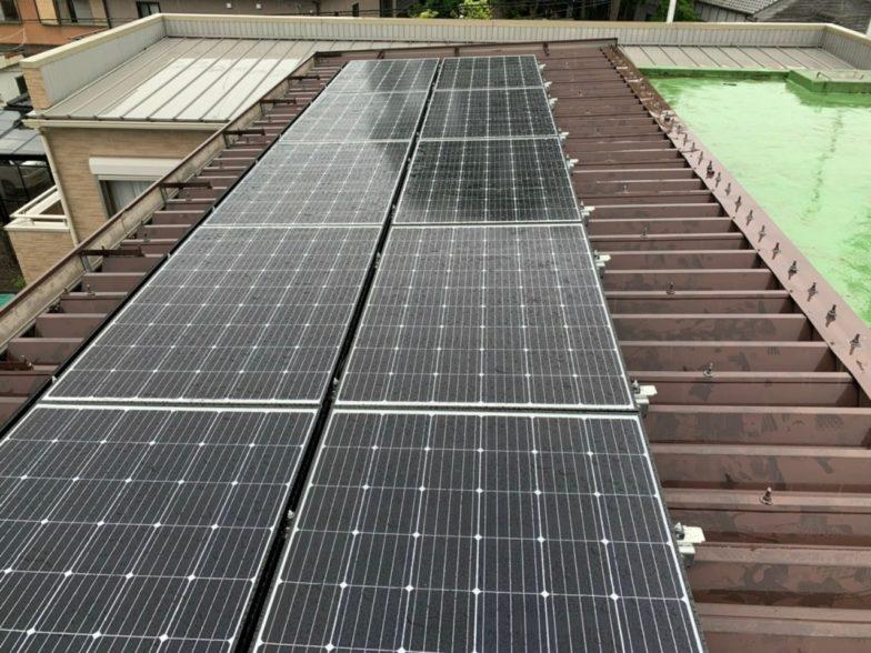 兵庫県QcellsQPEAK-DUO-G6 10枚施工後の写真