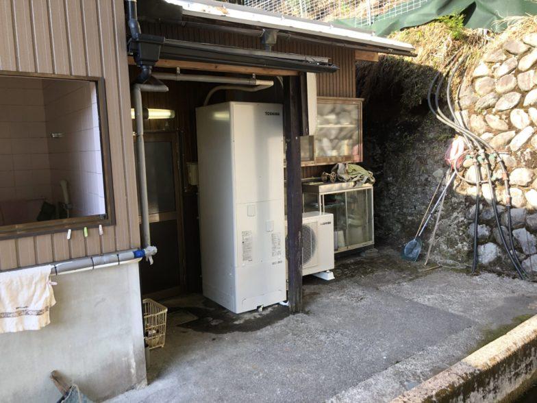 三重県東芝エコキュートHWH-B376施工後の写真