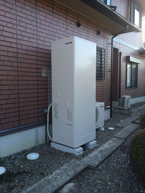 大阪府東芝エコキュートHWH-B466施工後の写真