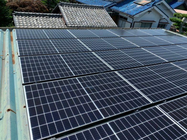 和歌山県QcellsQPEAK-DUO-G6 40施工後の写真