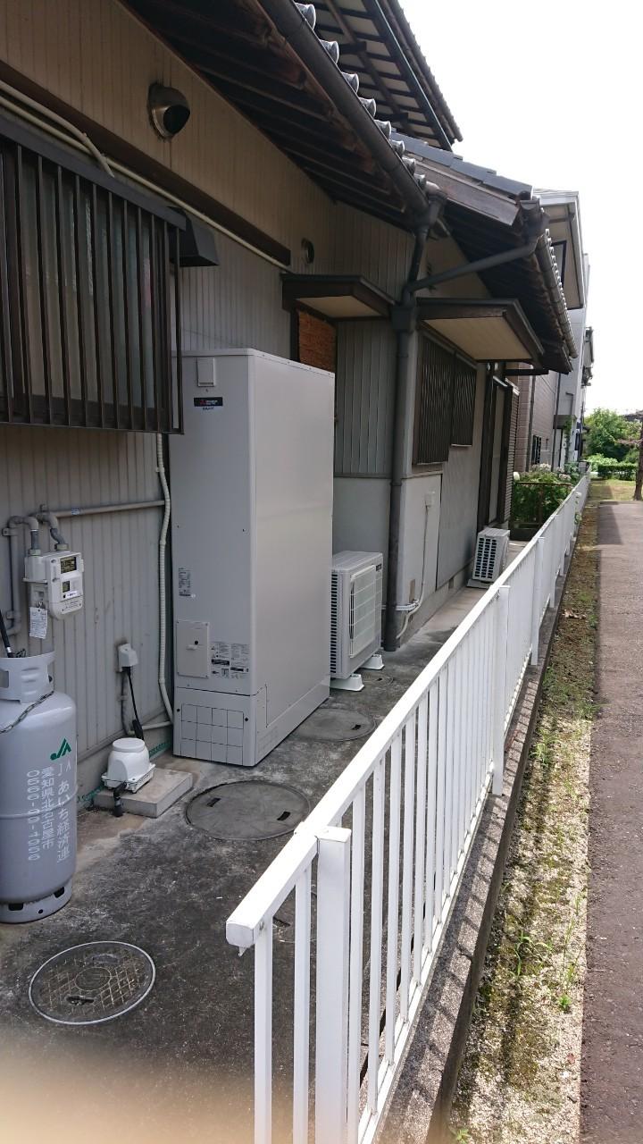 滋賀県三菱エコキュートSRT-S374UZ施工後の写真