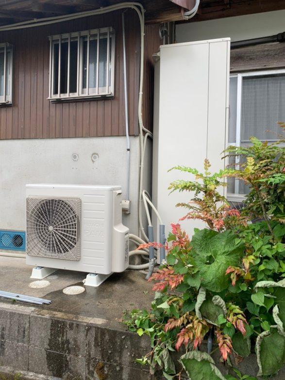 岐阜県日立エコキュートBHP-F37SD施工後の写真