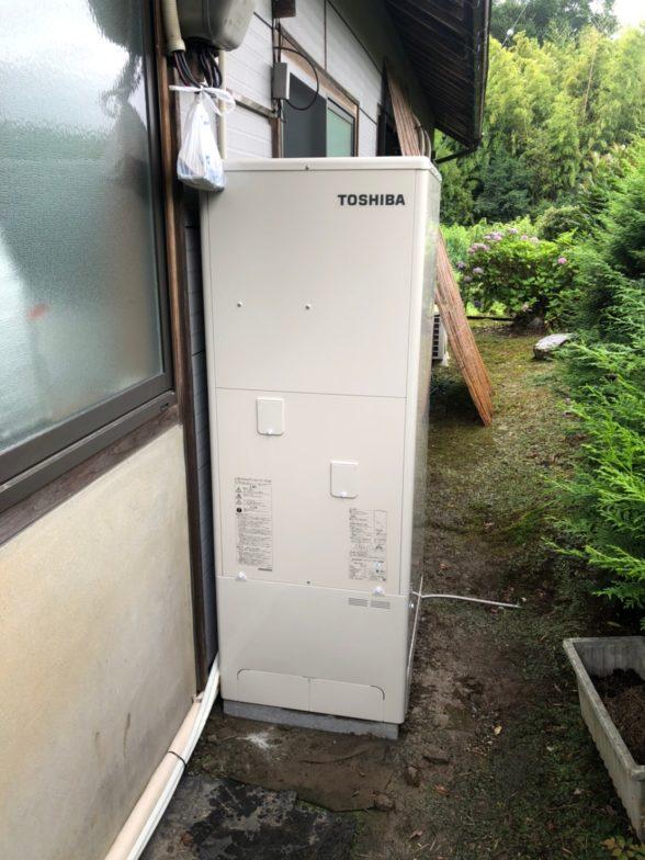 奈良県東芝エコキュートHWH-B376H施工後の写真