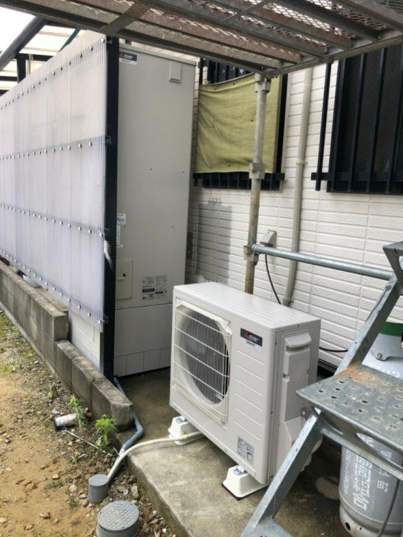 京都府三菱エコキュートSRT-S374UA施工後の写真