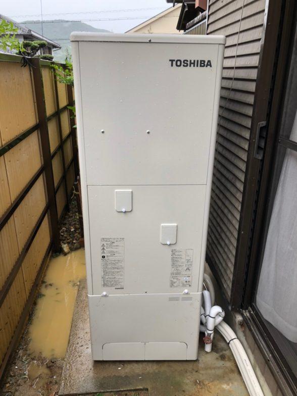 三重県東芝エコキュートHWH-B376H施工後の写真