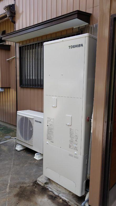 奈良県東芝エコキュートHWH-F376施工後の写真
