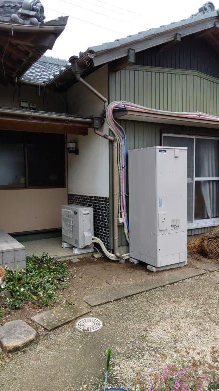 奈良県三菱エコキュートSRT-W374施工後の写真