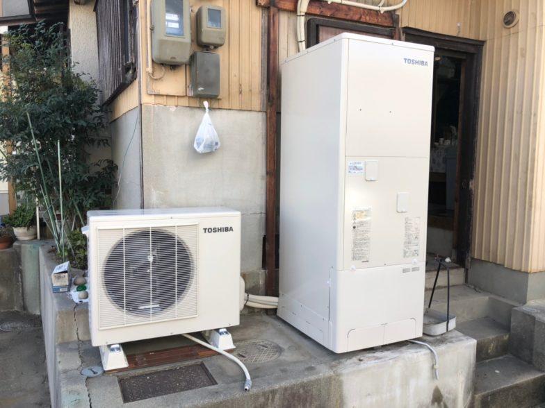 滋賀県東芝エコキュートHWH-B376H施工後の写真