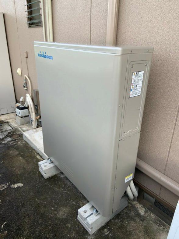 大阪府nichicon蓄電池ESS-U2M1施工後の写真