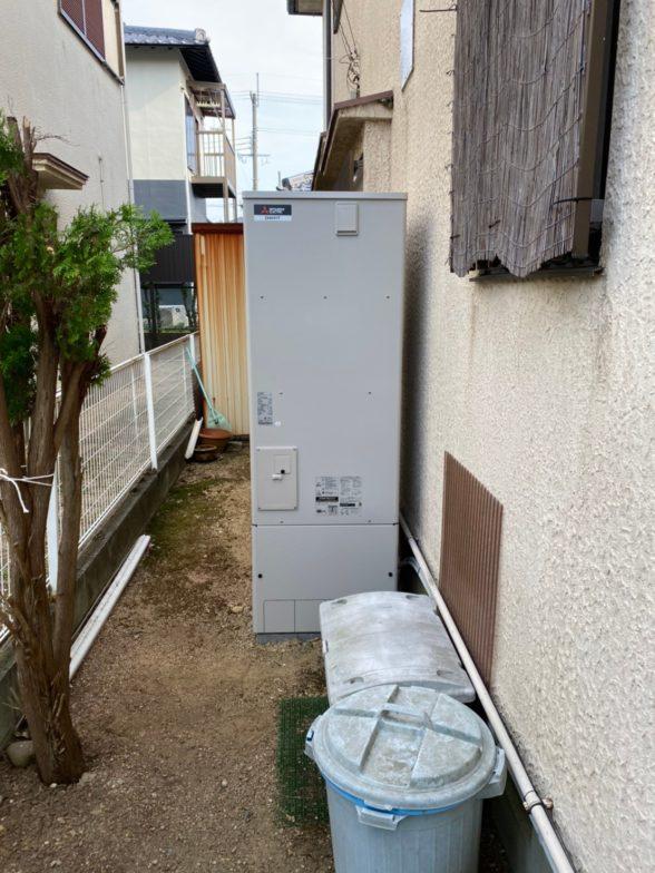 大阪府三菱エコキュートSRT-S375UAIHクッキングヒーターCS-G318M施工後の写真