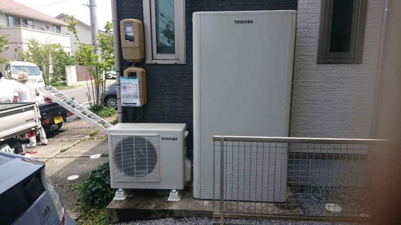 三重県東芝エコキュートHWH-B376HW施工後の写真