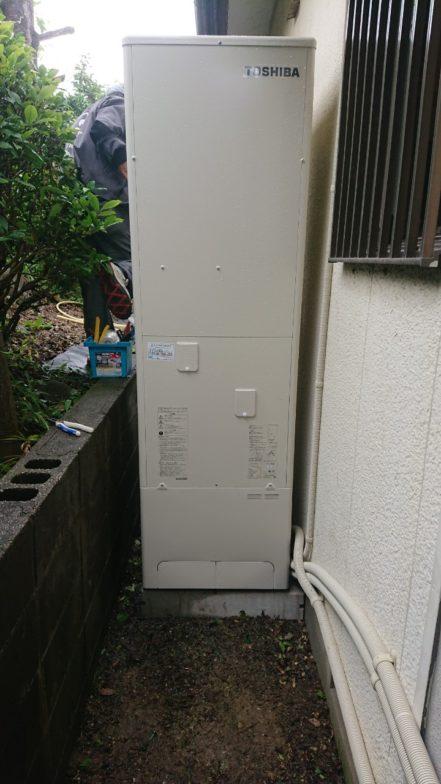 奈良県東芝エコキュートHWH-B376施工後の写真