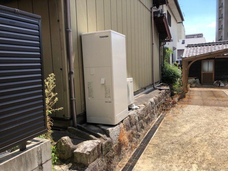 京都府東芝エコキュートHWH-F466施工後の写真