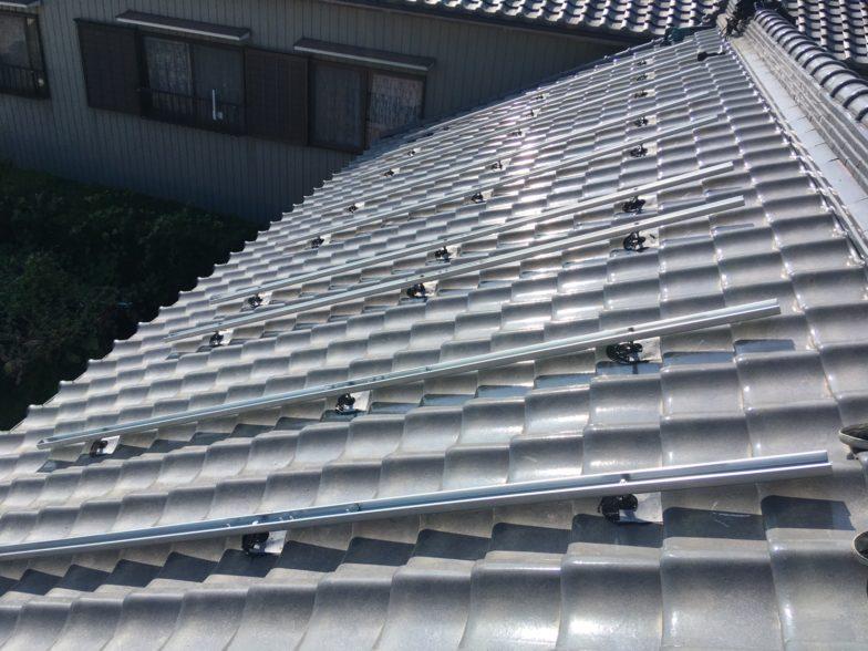 奈良県QcellsQ.PEAK DUO-G6 15枚施工前の写真