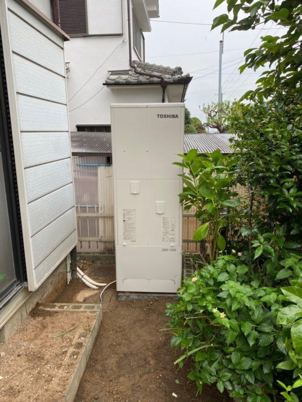 兵庫県東芝エコキュートHWH-B466H浴室乾燥機V-141BZ施工後の写真