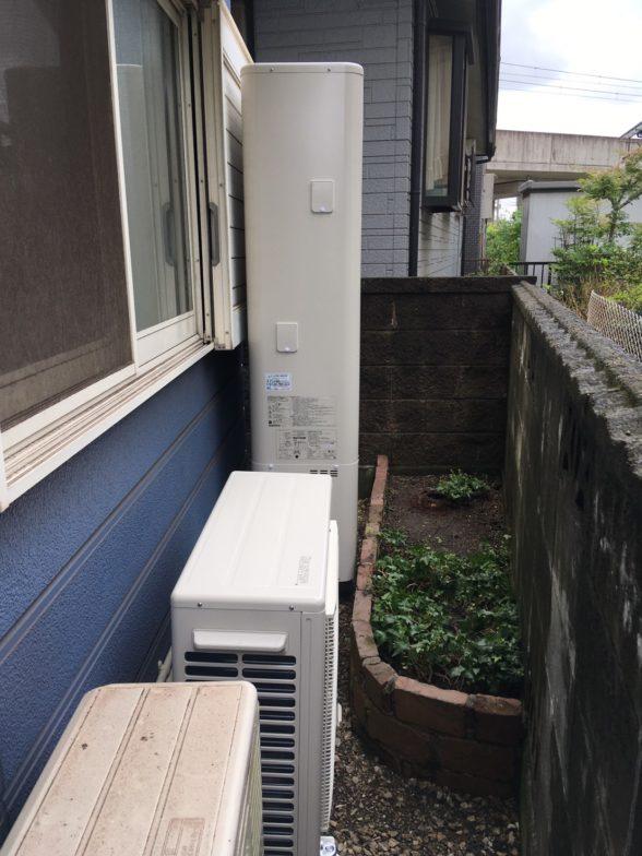 兵庫県東芝エコキュート HWH-B376HWA施工後の写真