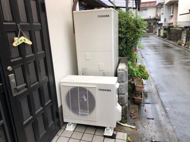 京都府東芝エコキュートHWH-B376H施工後の写真