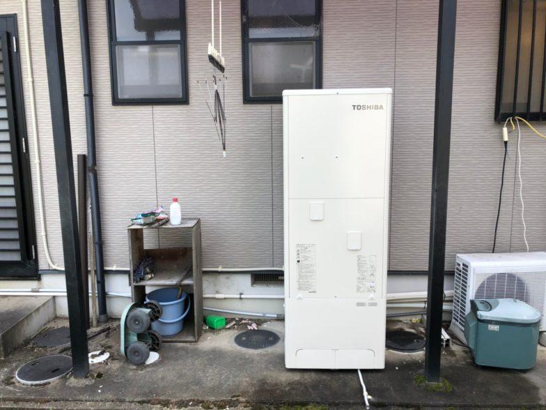 奈良県東芝エコキュートHWH-B466H施工後の写真
