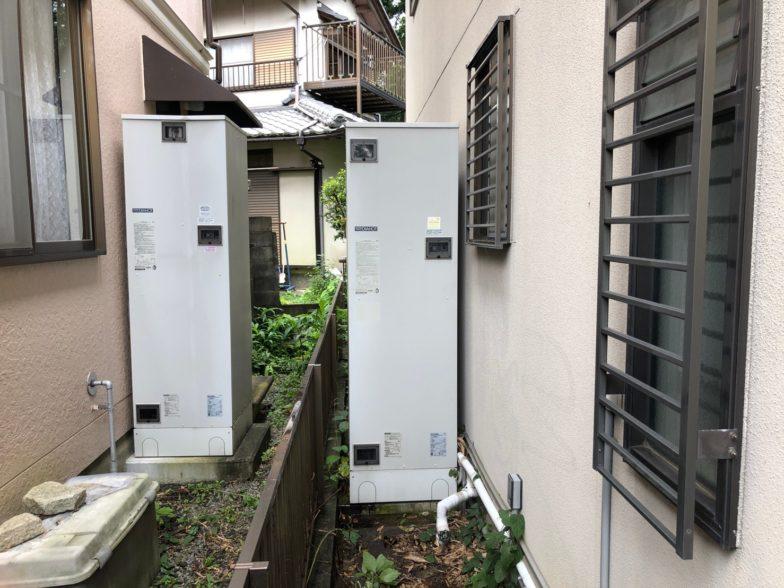 滋賀県東芝エコキュートHWH-B376H施工前の写真